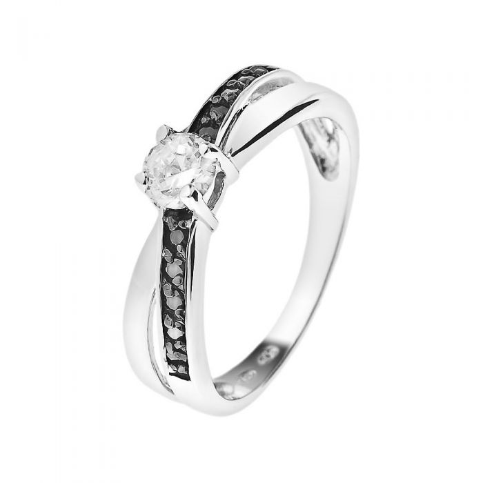 Image for Sterling silver zirconium ring