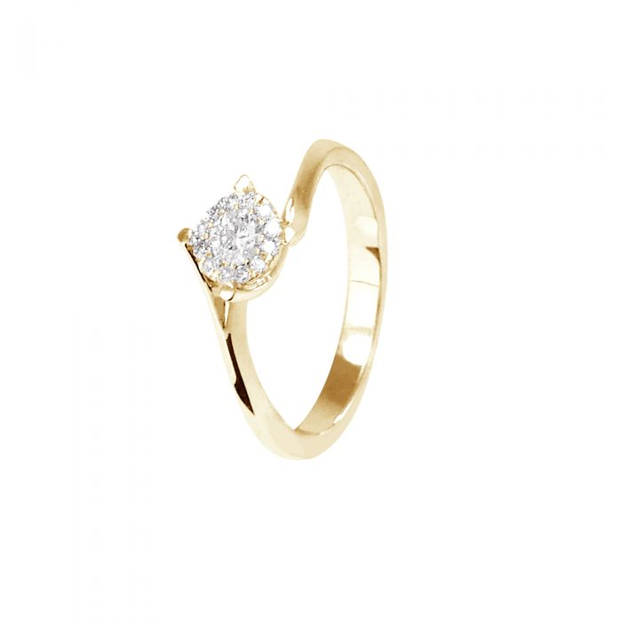 Image for Yellow gold diamond solitaire ring