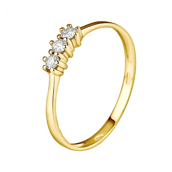Image for Yellow gold diamond trilogy ring