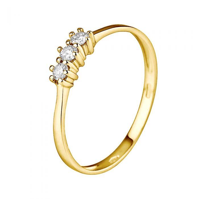 Image for DIADEMA - Ring - Trilogy Diamond - Yellow Gold