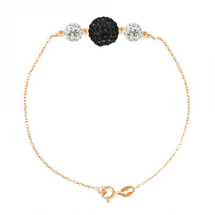 Image for Rose gold-tone 3-stone bracelet