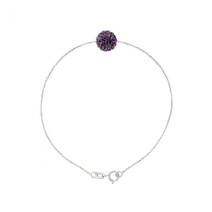 Image for Purple crystal bracelet