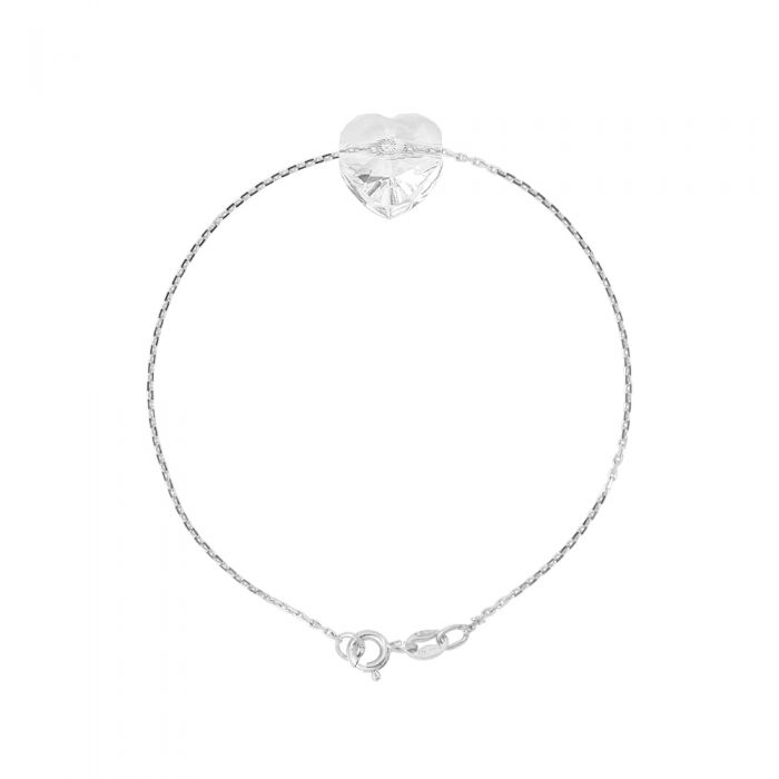 Image for Swarovski crystals heart bracelet