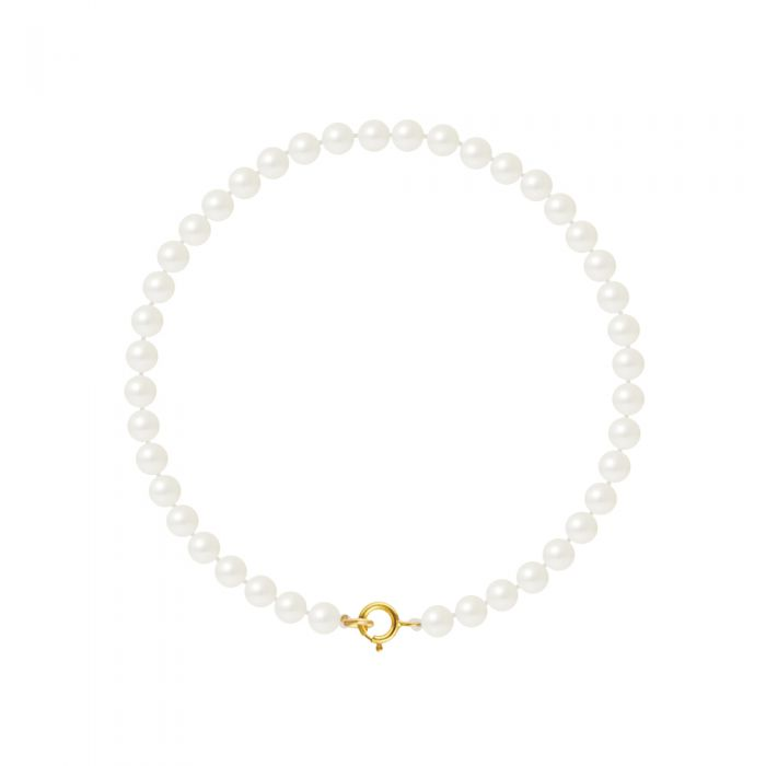 Image for Yellow gold freshwater pearl bacelet