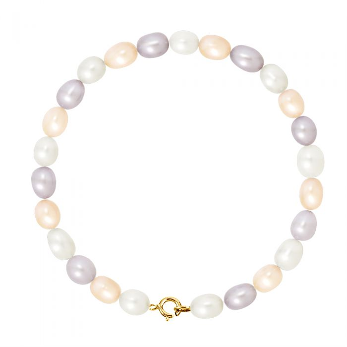 Image for Yellow gold freshwater pearl bracelet