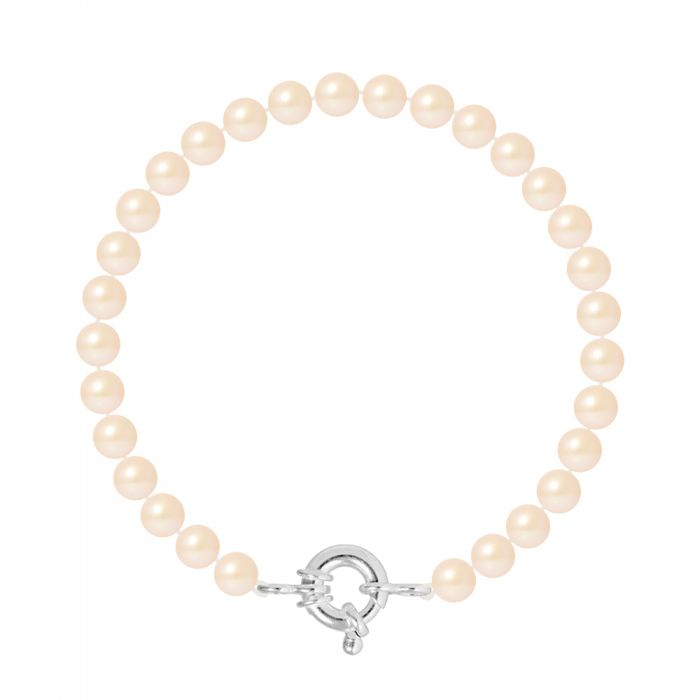 Image for DIADEMA - Bracelet - Real Freshwater Pearls - Pink - Silver