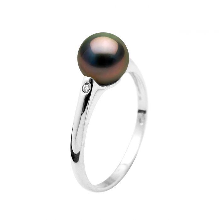 Image for DIADEMA - Ring - Diamonds - Tahitian Pearl - White Gold