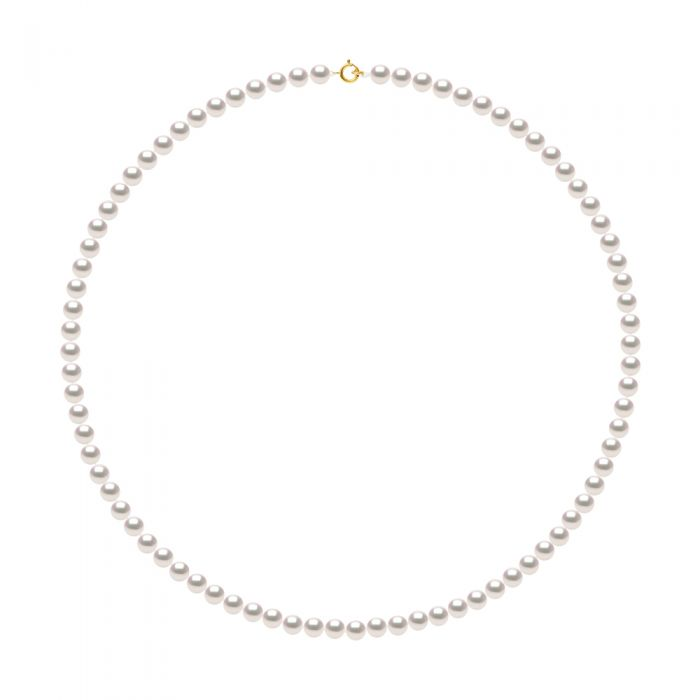 Image for DIADEMA - Necklace - Real Japanese Akoya Cultured Pearl - Yellow Gold