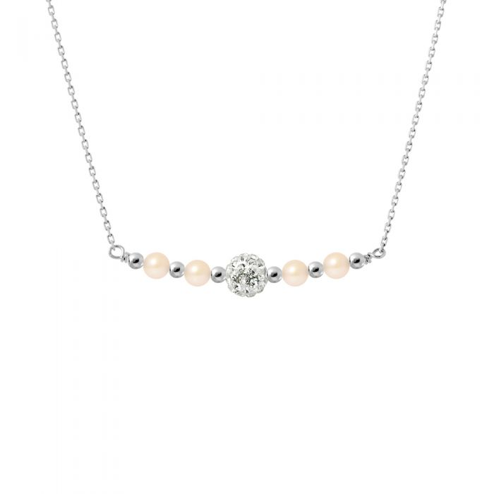 Image for Necklace - Pure White - Collection Crystal Pearl