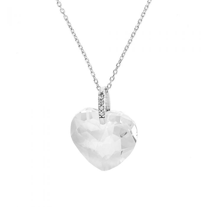 Image for Swarovski crystals heart necklace