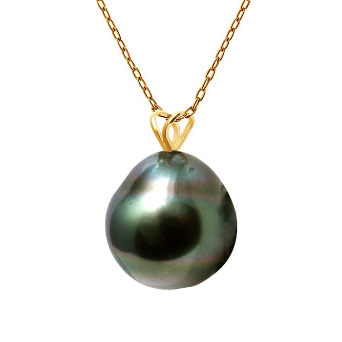 Image for Yellow gold and tahitian pearl pendant