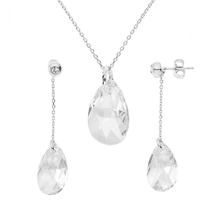 Image for 2pc Forever Swarovski necklace and earrings set