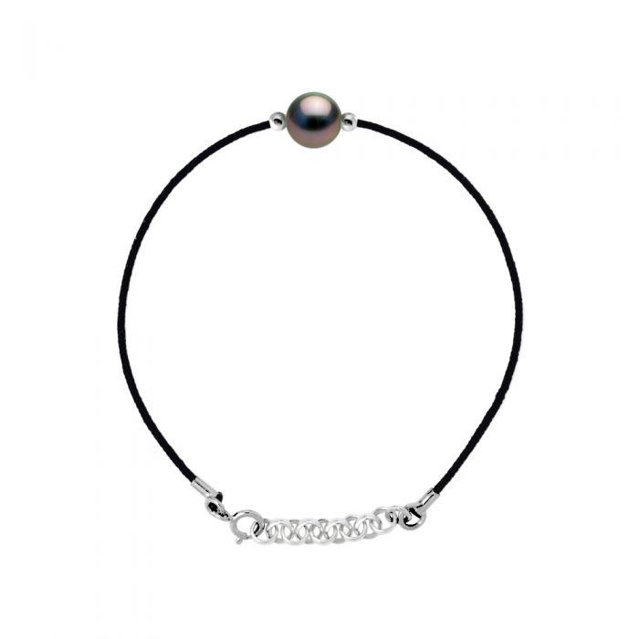 Image for DIADEMA - Bracelet - Love Bond - Black Nylon - Tahitian Pearl - Rainbow