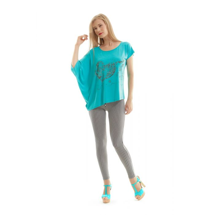 Image for Asymmetric Printed Top