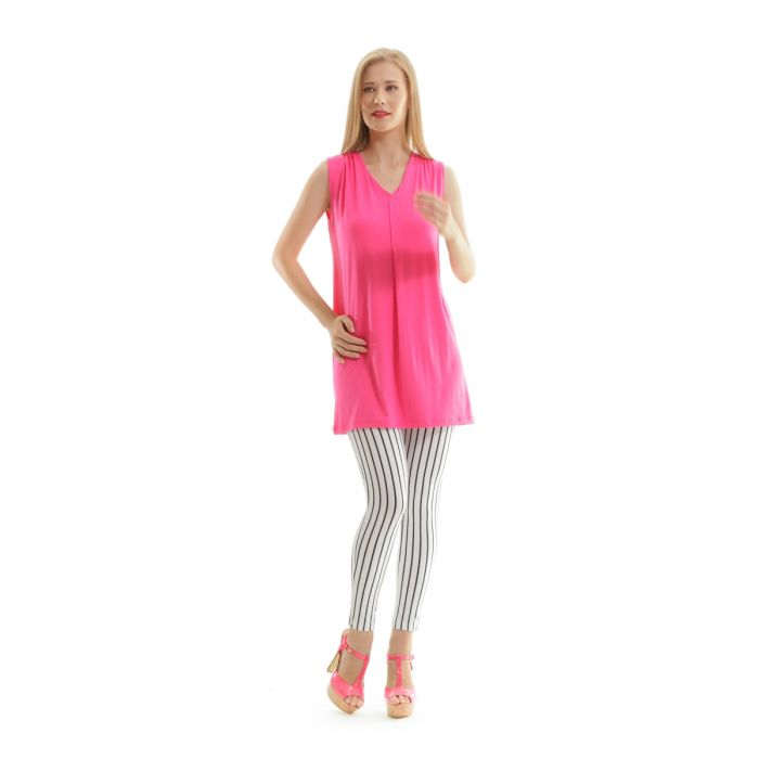 Image for Sleeveless Pleat Detail Tunic