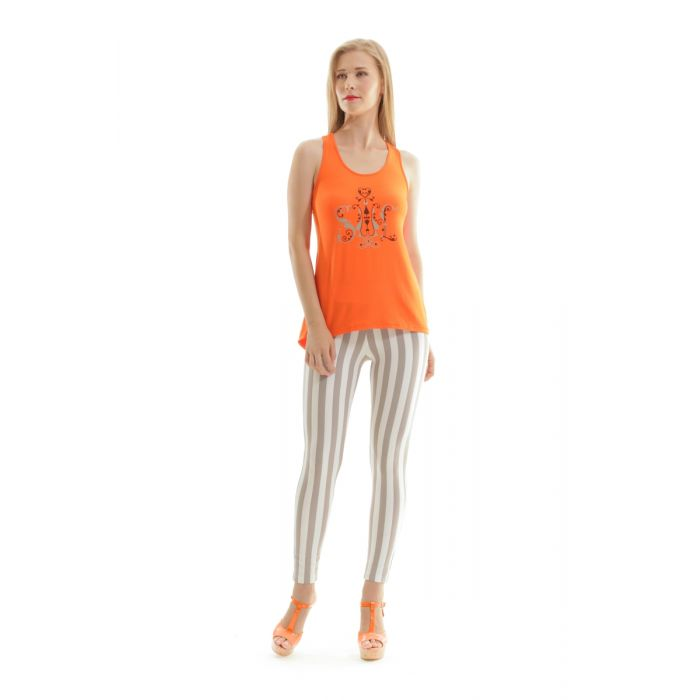 Image for Racer Back Print Top
