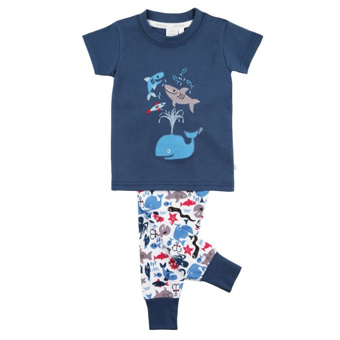 Image for Whale Graphic Tee slim fit Pyjamas for boys