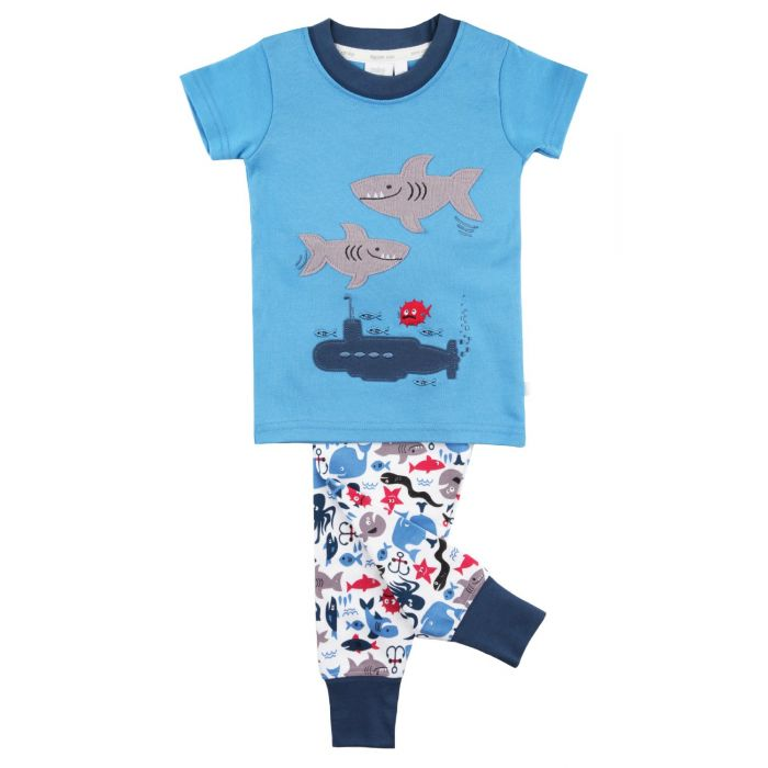 Image for Shark Graphic Tee slim fit Pyjamas for boys