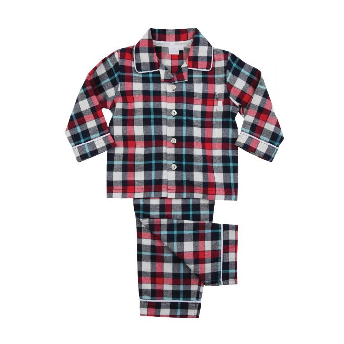 Image for Boys Traditional Red Check Pyjamas