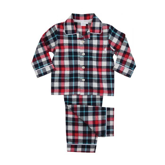 Image for Boys Traditional Red Check Pyjamas