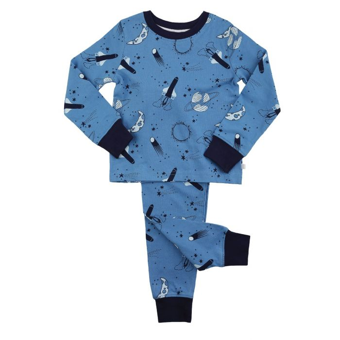 Image for Boys Space Print Skinny Fit Pyjamas