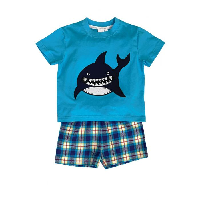 Image for Shark Summer Pyjamas in Blue