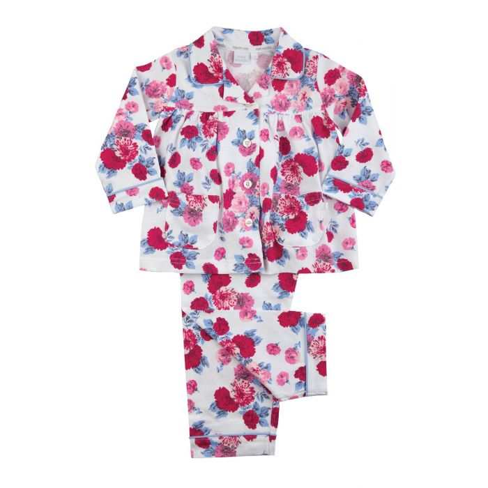 Image for Girls Traditional Rose Print Pyjamas