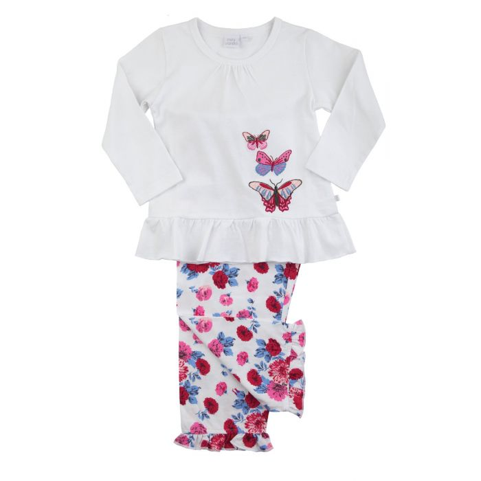 Image for Girls Butterfly Rose  Pyjamas