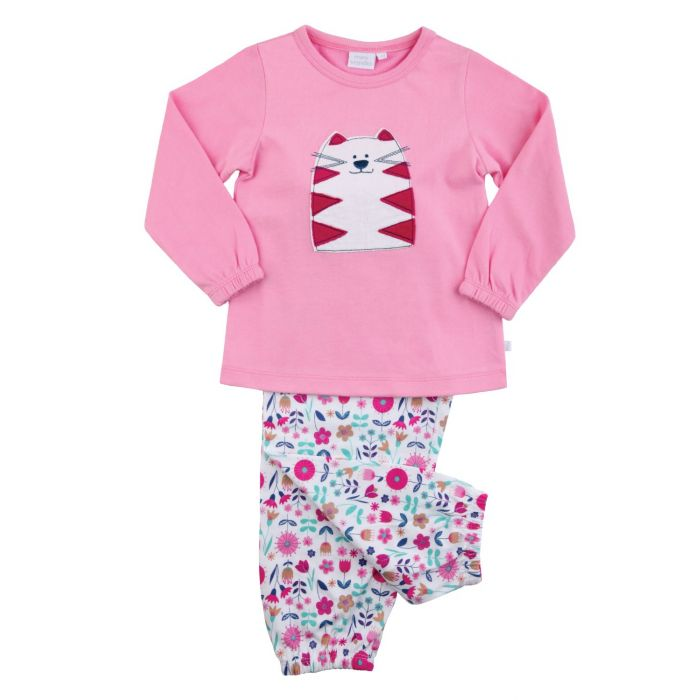 Image for Girls Cat Cotton Pyjamas