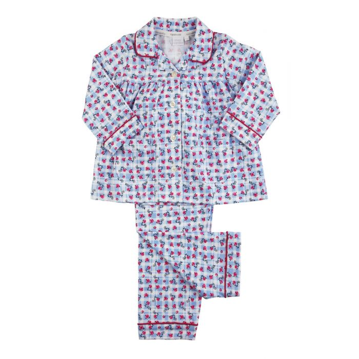 Image for Girls Blue Cotton Traditional Pyjamas