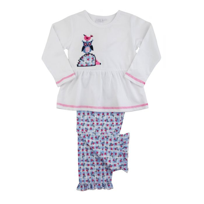 Image for Girls Stacking Animal Pyjamas