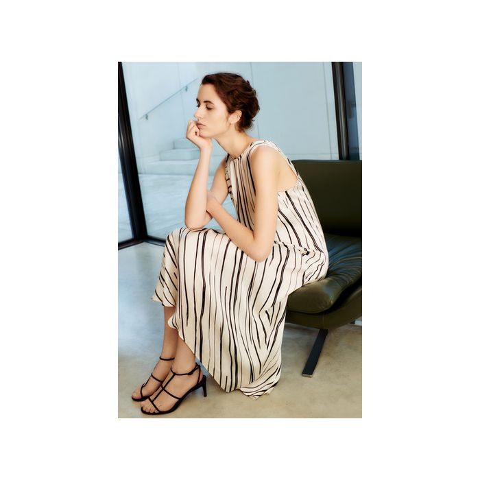 Image for Maeve Monochrome Striped Dress - multicolour