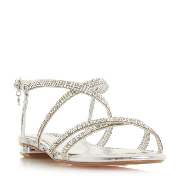 Image for Dune Ladies NEVE Multiple Strap Diamante Embellished Flat Sandal