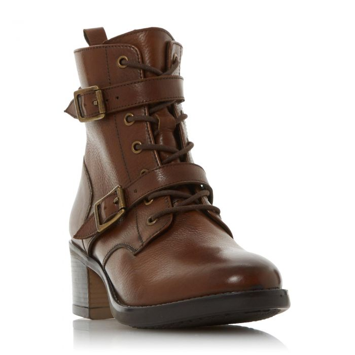 Image for Dune Ladies PAXTONE Buckle Detail Heeled Hiker Boot