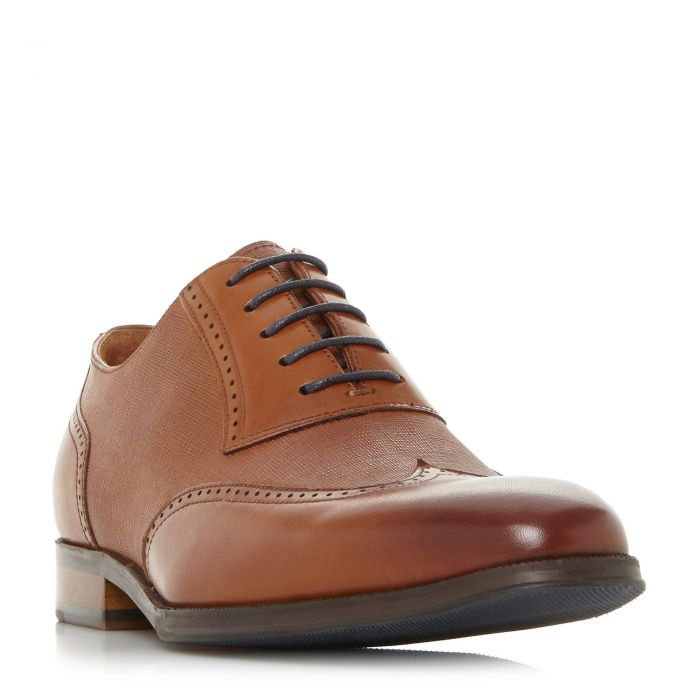 Image for Dune Mens PAYNE Saffiano Embossed Brogue Shoe