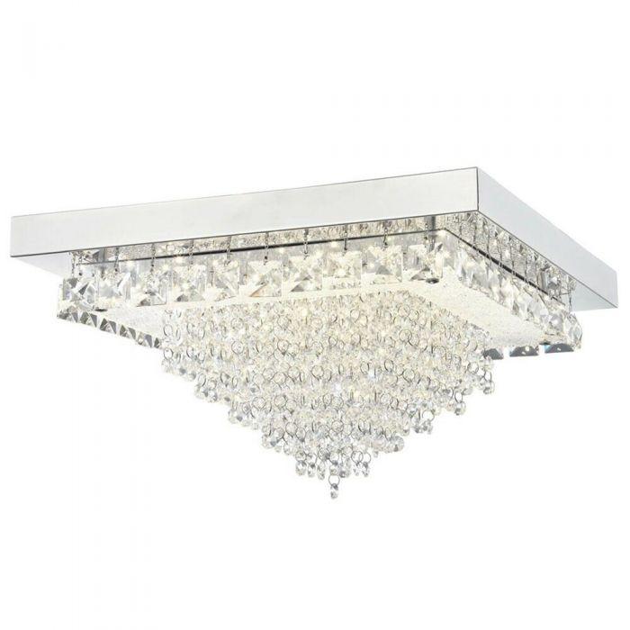 Image for Auden LED Large Square Semi-Flush Ceiling Light