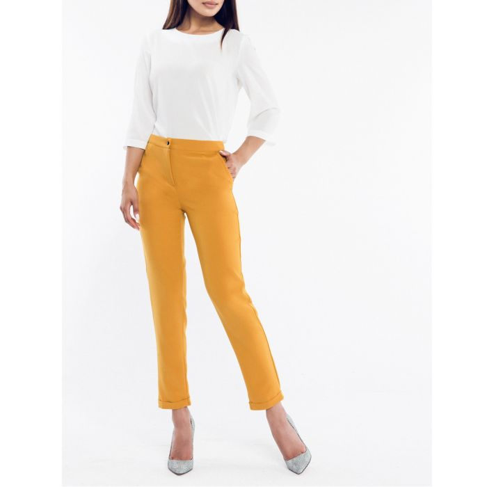 Image for Camel cropped trousers
