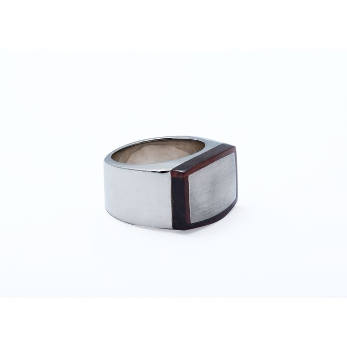Image for Silver Tiger Eye Red 20mm Round Trojan Classic - Ring