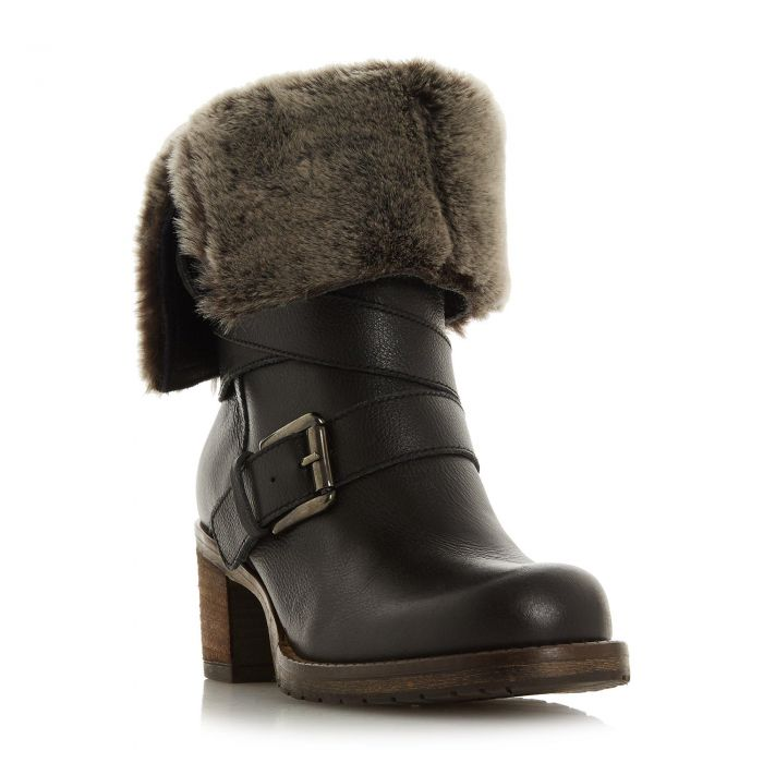 Image for Dune Ladies ROKO Faux Fur Trim Calf Boot