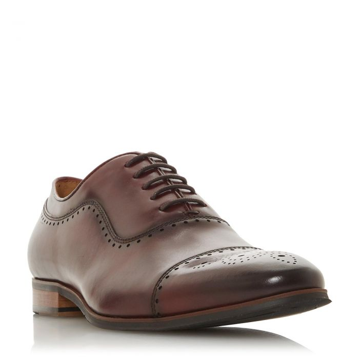 Image for Dune Mens SANDALWOOD Burnished Brogue Toecap Shoes