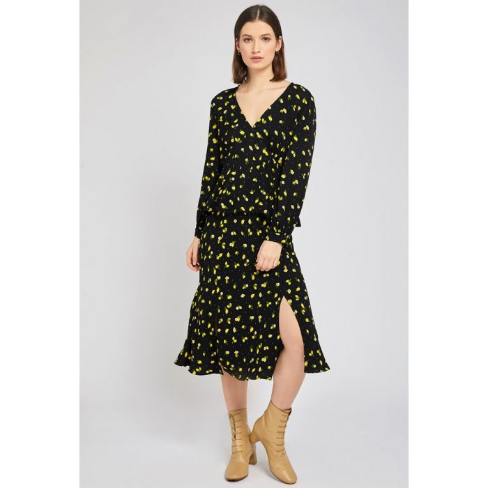 Image for Jodie Lemon Print Crepe Skirt