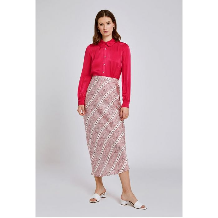 Image for Harper Striped Ditsy Satin Skirt