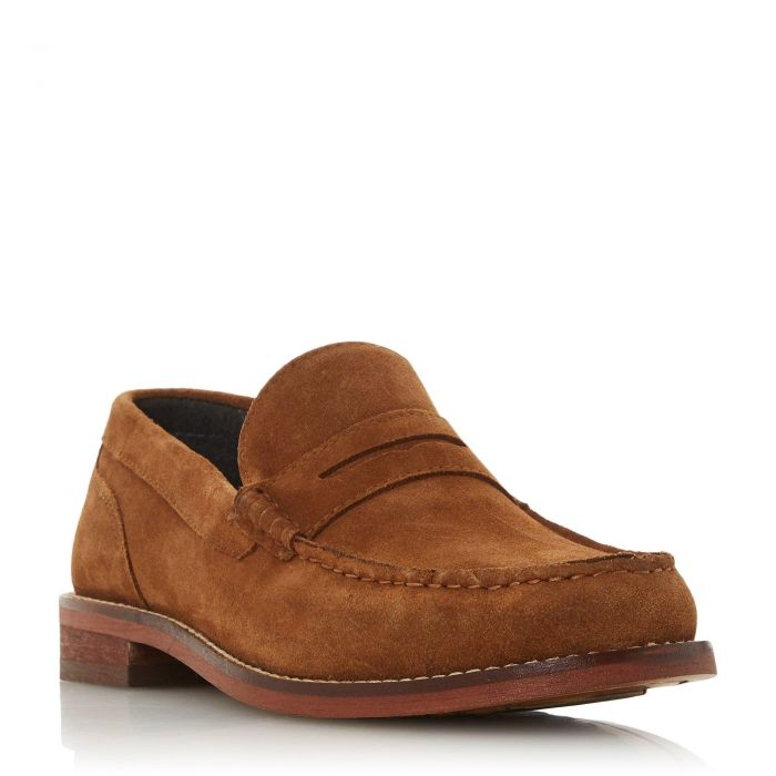 Image for Dune Mens SERBIA H Suede Saddle Loafer