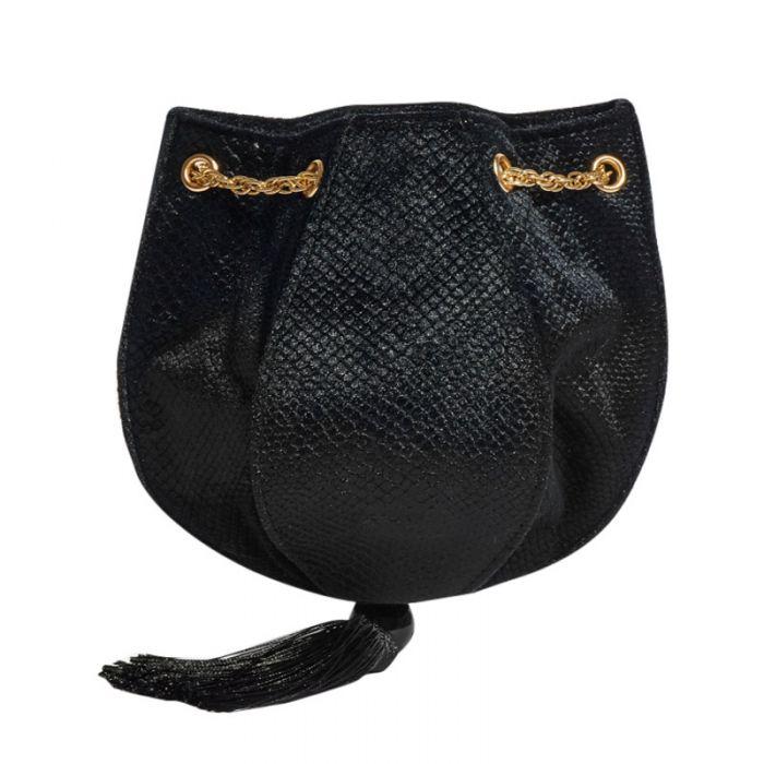 Image for Ida Black clutch bag