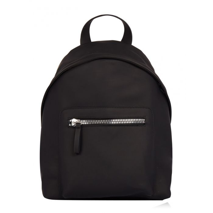 Image for Luna black faux leather backpack