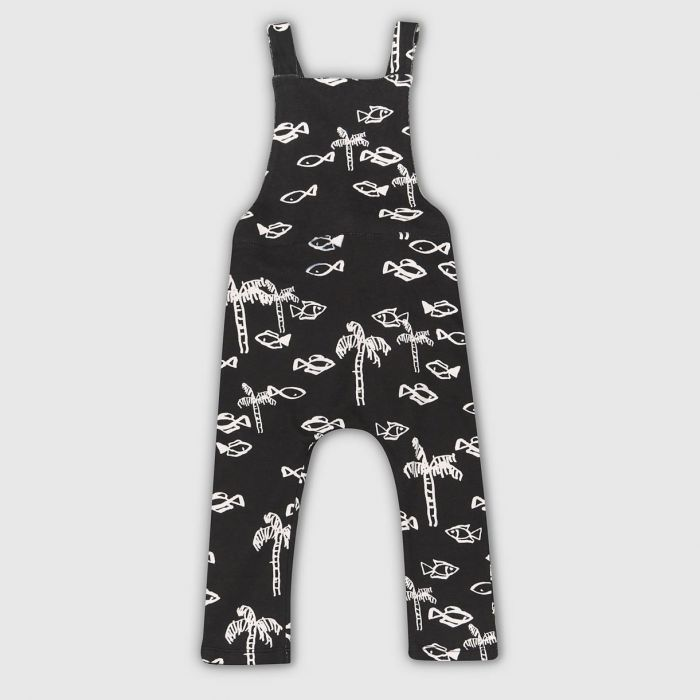 Image for Fish Print Dungarees