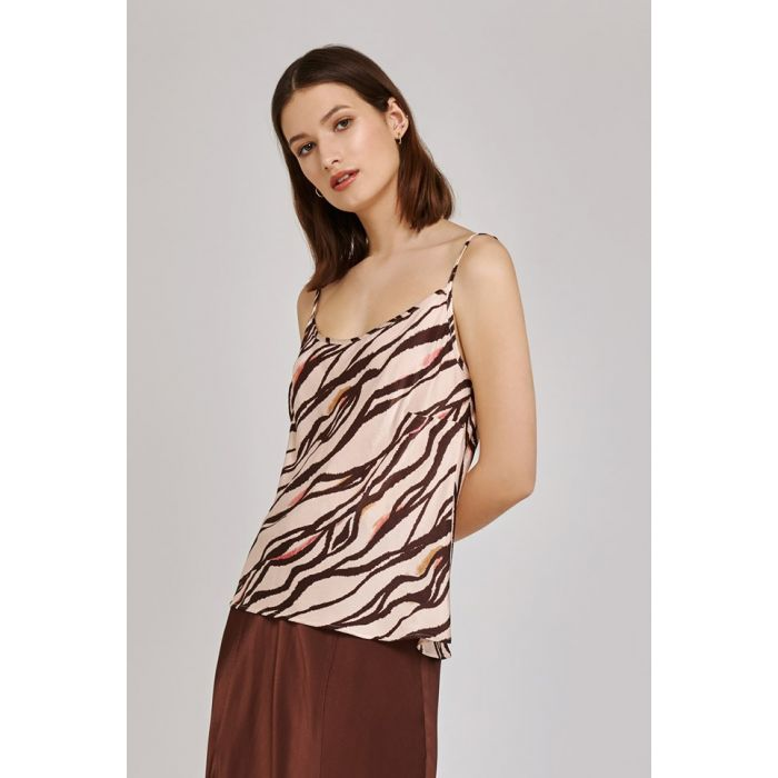 Image for Jana zebra print satin cami