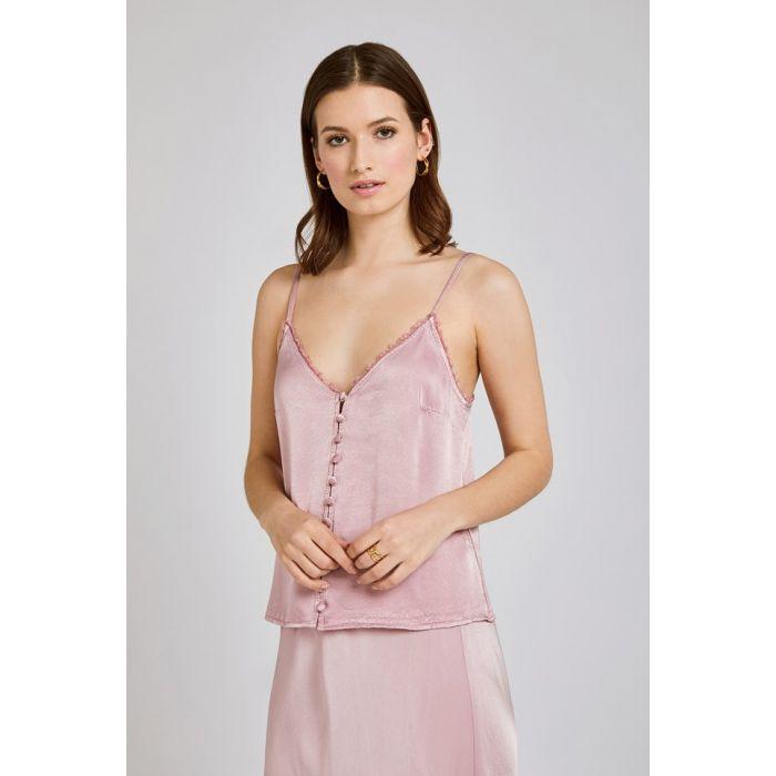 Image for Iris Lilac Pink Satin Cami