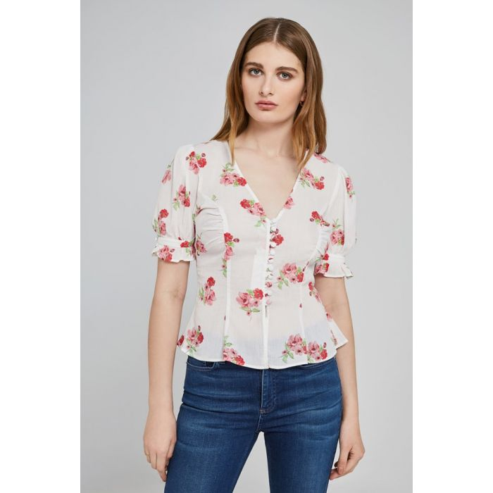 Image for Ismay Palm Spring Print Top