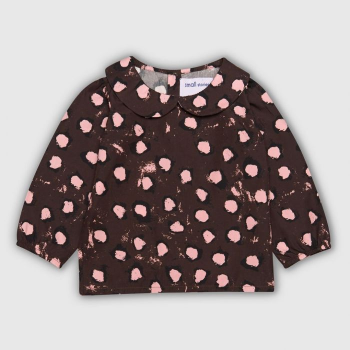 Image for Painted Dot Collar blouse